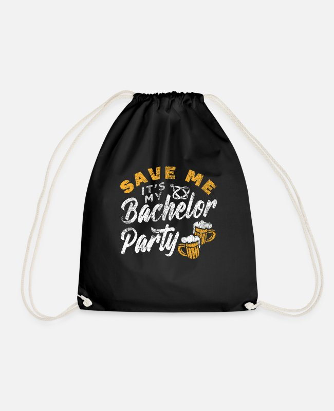 Husband Bags & Backpacks - Bachelor Party JGA Party Men - Drawstring Bag black