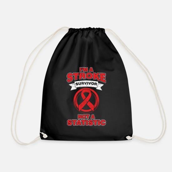 Stroke Bags & Backpacks - National Stroke Awareness Month Gift I'm A Stroke - Drawstring Bag black