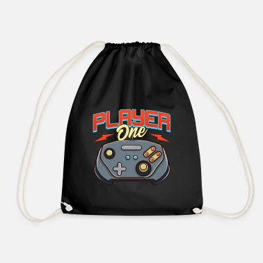Video Game Players Controller One Video Game Player - Drawstring Bag