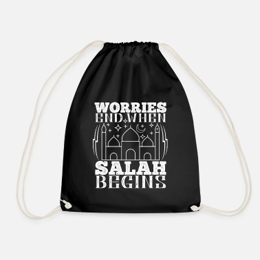 Islam Islam - Worries end when Salah begins - Drawstring Bag