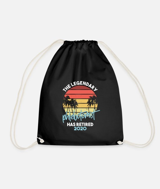 Medicine Bags & Backpacks - Legendary Phlebotomist Retired 2020 Phlebotomy - Drawstring Bag black