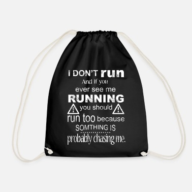 Funny Run T-shirt - Drawstring Bag