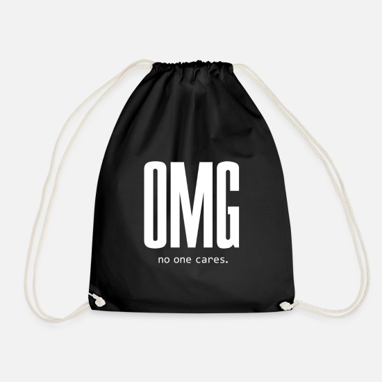 Egoist Bags & Backpacks - OMG - Drawstring Bag black