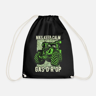 Tractor Gas Niks keep calm gas d'r op - Gymtas