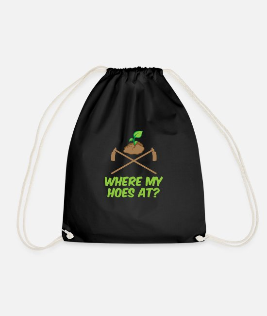 Weeding Bags & Backpacks - Garden Hoe Gardener Gardening Tool Rake Gift - Drawstring Bag black
