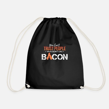 Sausage Bacon Foodie Lover Barbecue Grill Funny Gift - Drawstring Bag