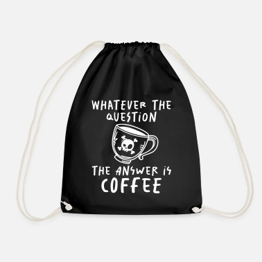 Starbucks The Answer is Coffee - coffee - barista - Drawstring Bag