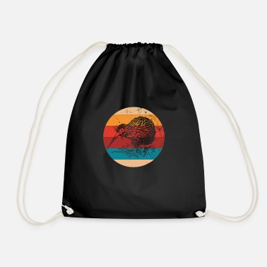 Flightless Bird Vintage Kiwi Lover Retro Flightless Bird - Drawstring Bag