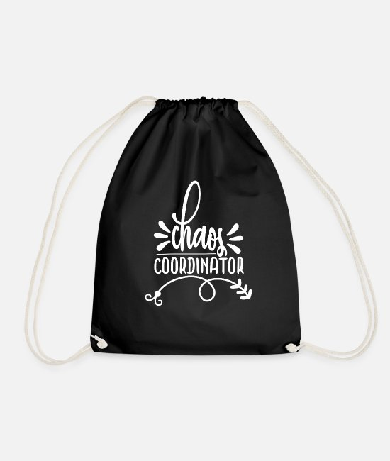 Engagement Bags & Backpacks - Wedding planner wedding party - Drawstring Bag black