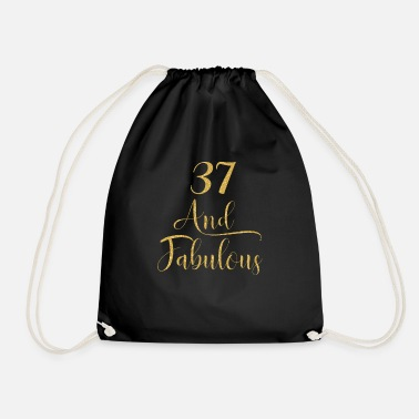 Old Women 37 Years Old And Fabulous 37th Birthday - Drawstring Bag
