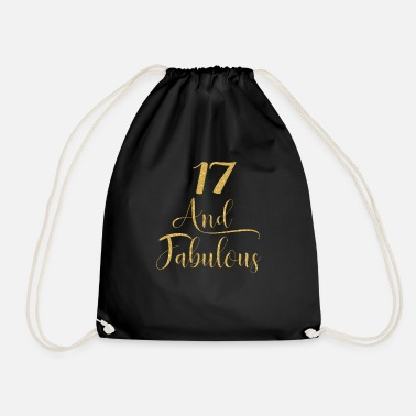 Turn Girls 17 Years Old And Fabulous Girl 17th - Drawstring Bag