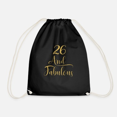 Princess Women 26 Years Old And Fabulous 26th Birthday - Drawstring Bag