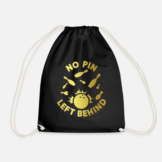 Bowler Bags & Backpacks - Bowler Gift Funny saying - Drawstring Bag black