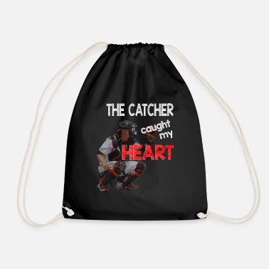 Catcher Catcher - The catcher caught my heart - Drawstring Bag