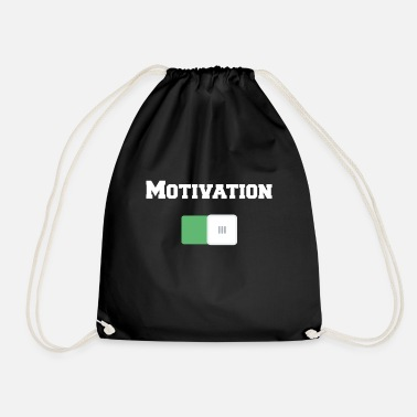 Motivational Motivation On Motivational Motiv Black - Drawstring Bag