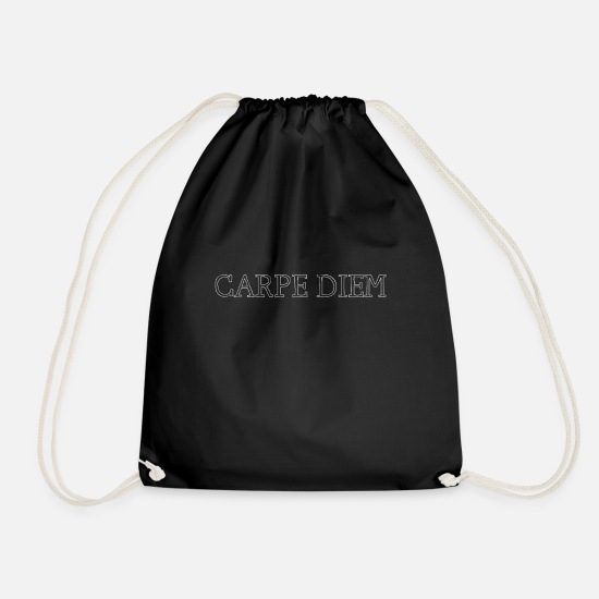 Gift Idea Bags & Backpacks - Carpe Diem Use the Day Motiv 2 - Drawstring Bag black