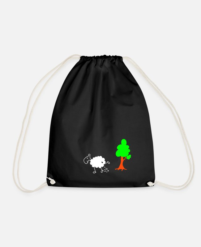 Nature Bags & Backpacks - Schwarzes Schaf Pisser / Sheep in wolf's clothing - Drawstring Bag black