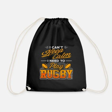 Two rotating rugby balls - rugby - Drawstring Bag