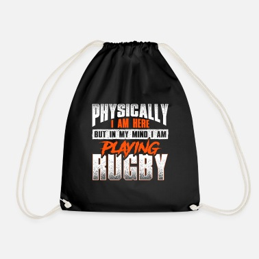 Crazy rugby saying - rugby - Drawstring Bag