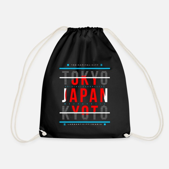 Kyoto Bags & Backpacks - Japan Metropolitan city's - Drawstring Bag black