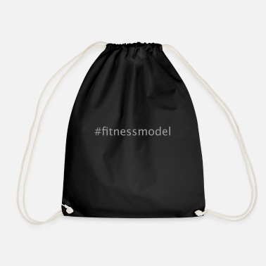 fitness model, hashtag, #, fitness, model, fun - Drawstring Bag