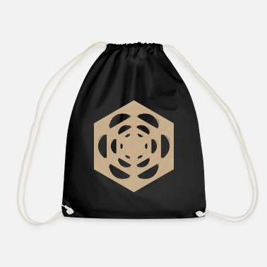 Dice in the cube texture sand - Drawstring Bag