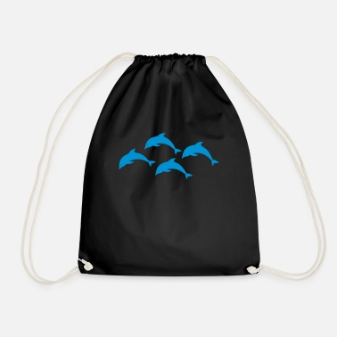 Dolphin dolphins - Drawstring Bag