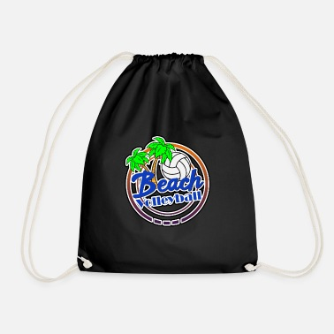 Beach Beach Volleyball Beach Beach - Drawstring Bag