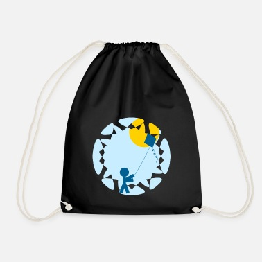 Tempest rainbow sun clouds weather rainbow sun cloud29 - Drawstring Bag