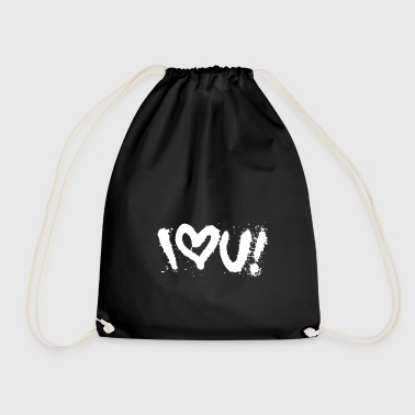 Molotow i love u graffiti street art tag style shirt - Drawstring Bag