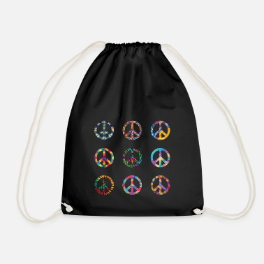 Green Peace peace - Drawstring Bag
