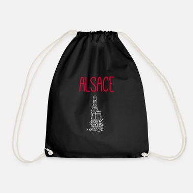 Red wine from Alsace Alsace oak barrel - Drawstring Bag
