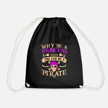 Princess Pirate Pirate Gift Princess Pirate Skull Skull - Drawstring Bag
