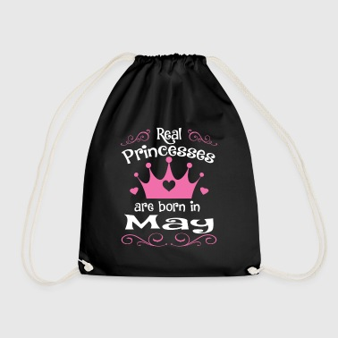 May - Princess - Birthday - 1 - Drawstring Bag