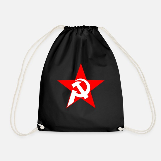 Communism Bags & Backpacks - communism - Drawstring Bag black