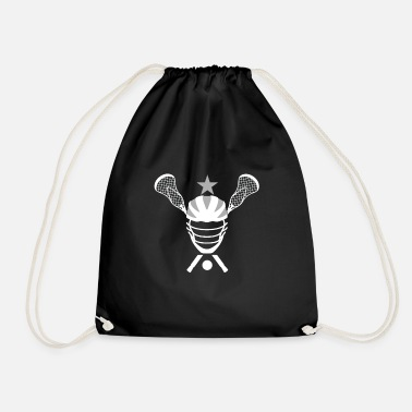Lacrosse Helmet and Sticks - Drawstring Bag