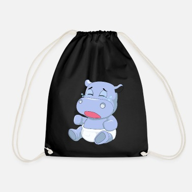 Cry Baby Baby Hippo Crying - Drawstring Bag