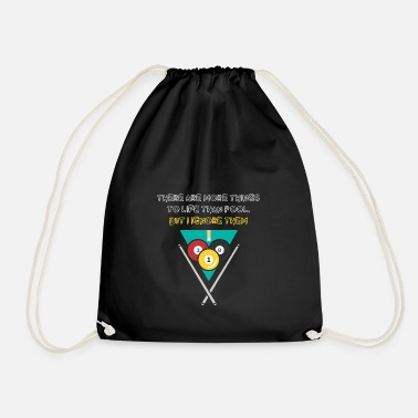 Snooker Funny saying Pool Billiard Shirt Life Snooker - Drawstring Bag