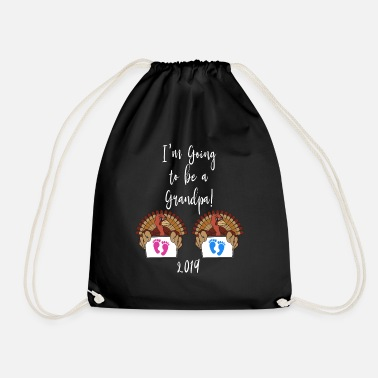 Mens Thanksgiving Baby Annoucement Design To Be - Gymbag