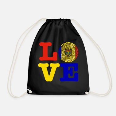 Moldova MOLDOVA HEART - Drawstring Bag