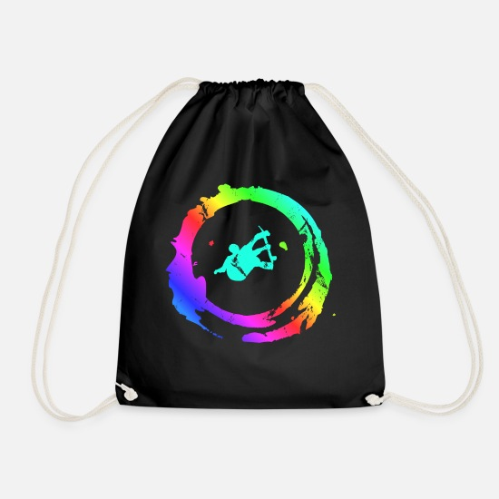 Sk8 Bags & Backpacks - hippie skater - Drawstring Bag black