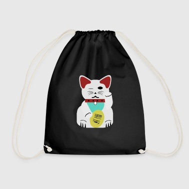 Chinese lucky cat, money - Drawstring Bag