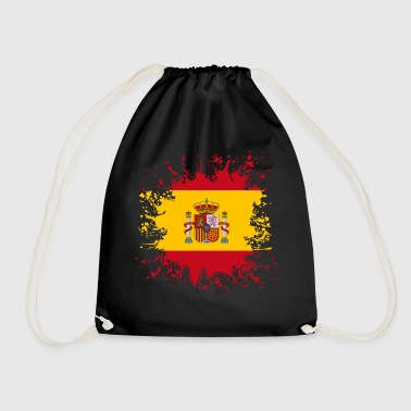 Bandera Spain flag color splashes - Drawstring Bag