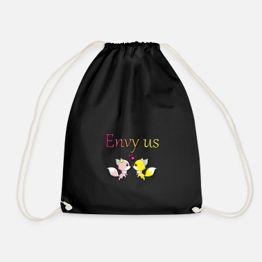 Envy envy us, foxes - Drawstring Bag
