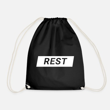 Rest rest - Drawstring Bag
