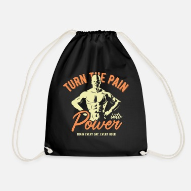 Sport Fitness Pain - Train - Gym - Bodybuilder - Gymbag