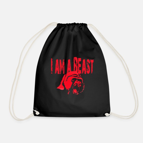 Beast Mode Bags & Backpacks - BEAST MODE - Drawstring Bag black