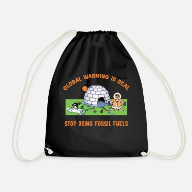 Global Global Warming - Drawstring Bag