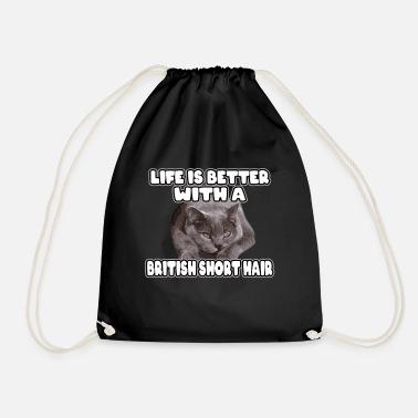 British shorthair - Drawstring Bag