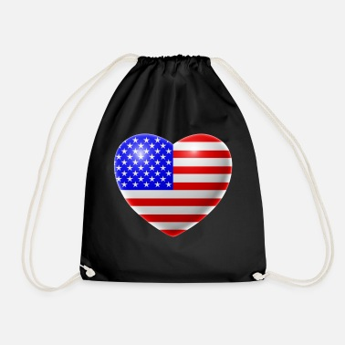 Usa Heart (USA / USA) - Drawstring Bag